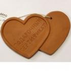 """Керамический сертификат """"Два сердца"""""""