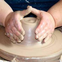 Центровка глиняной массы