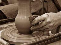 как делают керамику - гончарный круг